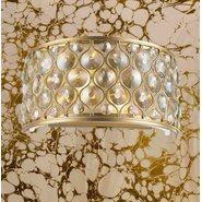 Paris 2 Light Matte Gold Finish Wall Sconce