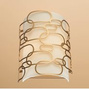 w23440mg9 Montauk 2 Light Matte Gold Finish Wall Sconce