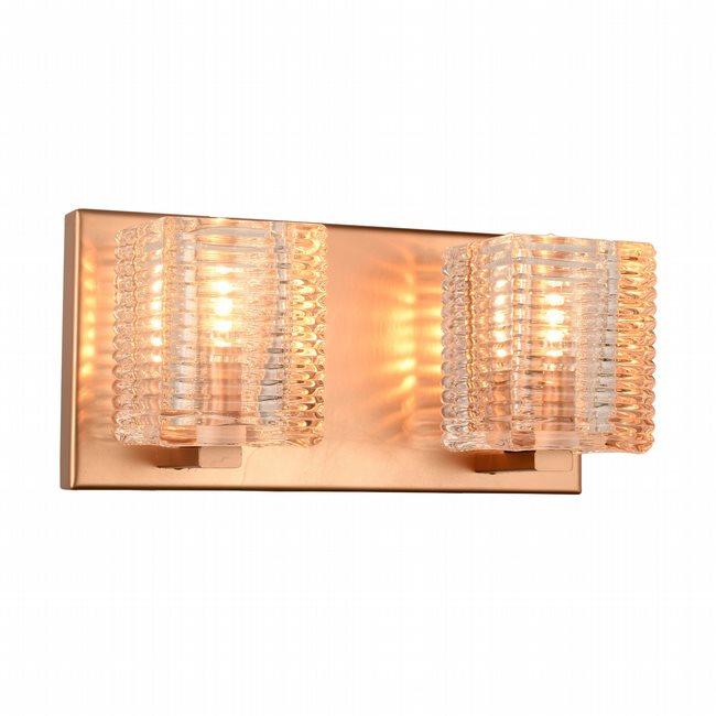 w23450mg10 Candella 2 Light Matte Gold Finish G9 Wall Sconce
