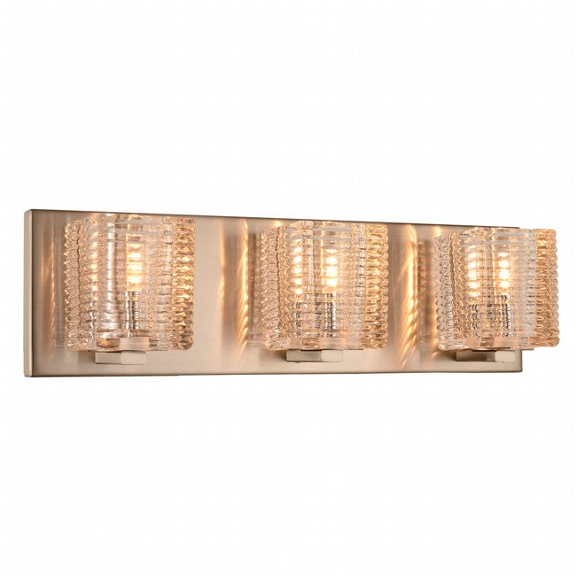 w23451mn17 Candella 3 Light Matte Nickel Finish G9 Wall Sconce - Discontinued