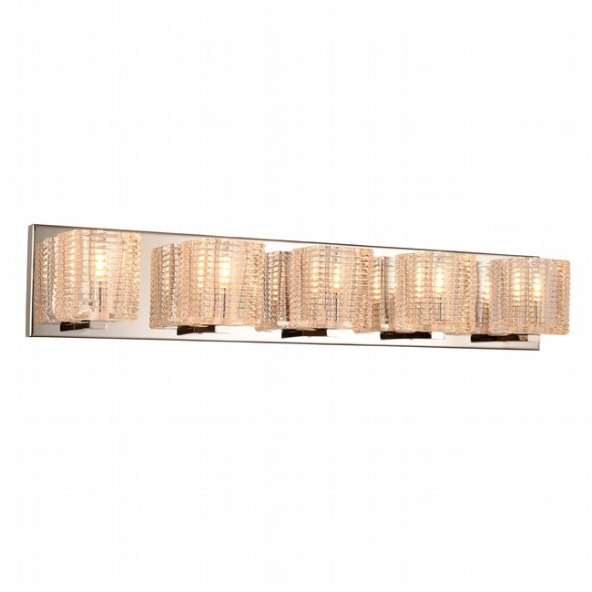 w23453c27 Candella 5 Light Chrome Finish G9 Wall Sconce - Discontinued
