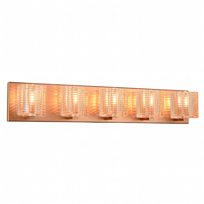 w23453mg27 Candella 5 Light Matte Gold Finish G9 Wall Sconce - Discontinued