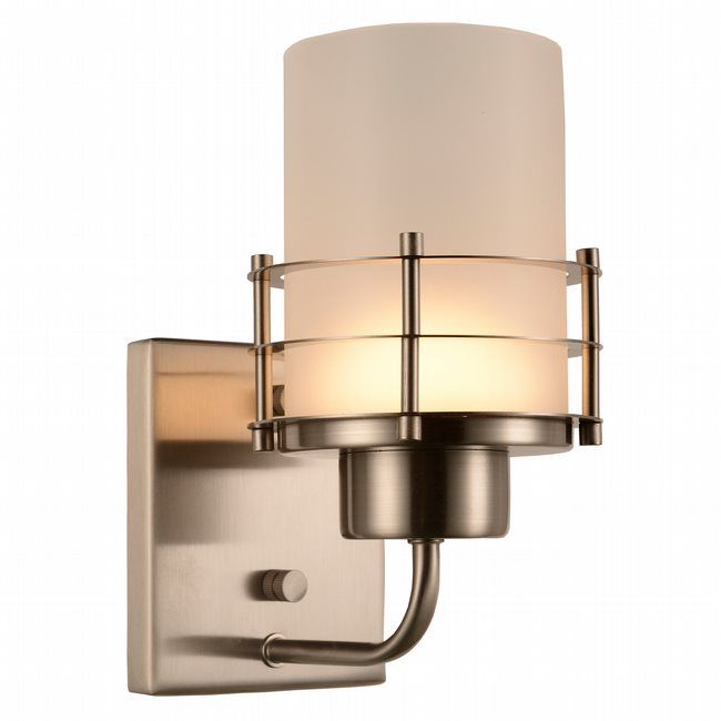 w23454mn5 Potomac 1 Light Matte Nickel Finish LED Wall Sconce - Discontinued