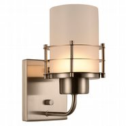 w23454mn5 Potomac 1 Light Matte Nickel Finish LED Wall Sconce