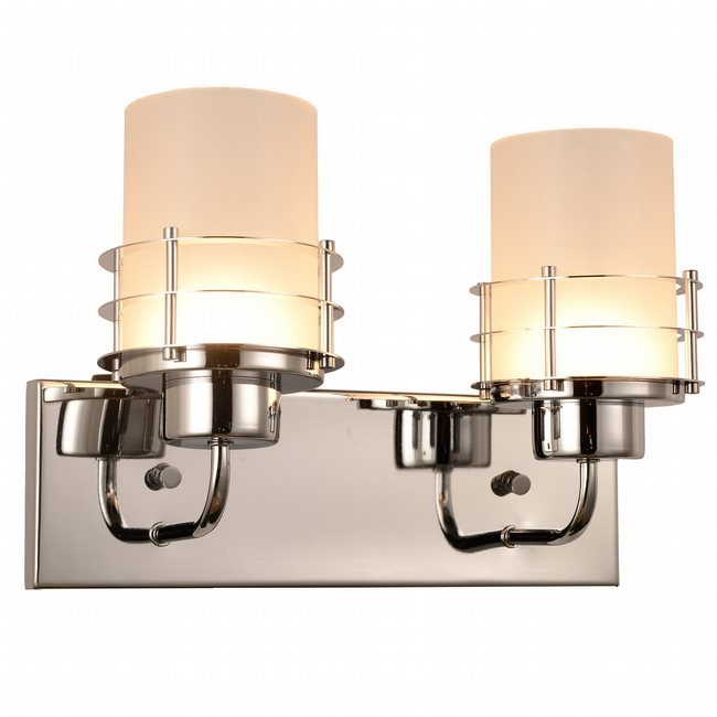 w23455c14 Potomac 2 Light Chrome Finish LED Wall Sconce - Discontinued