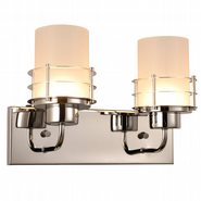 w23455c14 Potomac 2 Light Chrome Finish LED Wall Sconce