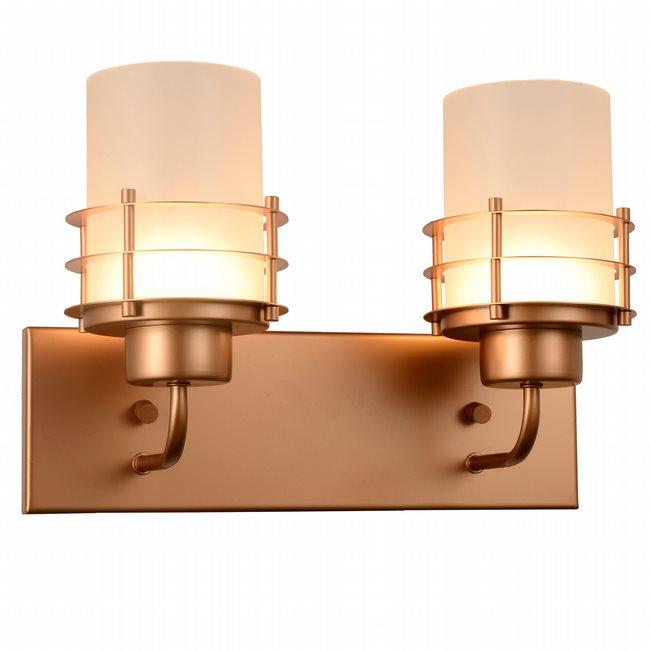 w23455mg14 Potomac 2 Light Matte Gold Finish LED Wall Sconce
