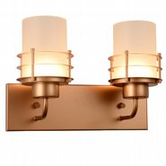 w23455mg14 Potomac 2 Light Matte Gold Finish LED Wall Sconce