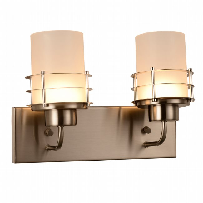 w23455mn14 Potomac 2 Light Matte Nickel Finish LED Wall Sconce - Discontinued