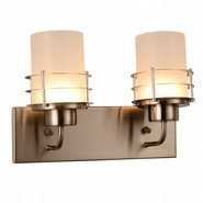 w23455mn14 Potomac 2 Light Matte Nickel Finish LED Wall Sconce
