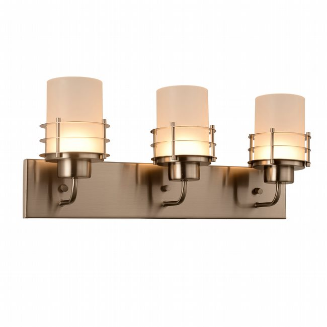 w23456mn22 Potomac 3 Light Matte Nickel Finish LED Wall Sconce - Discontinued
