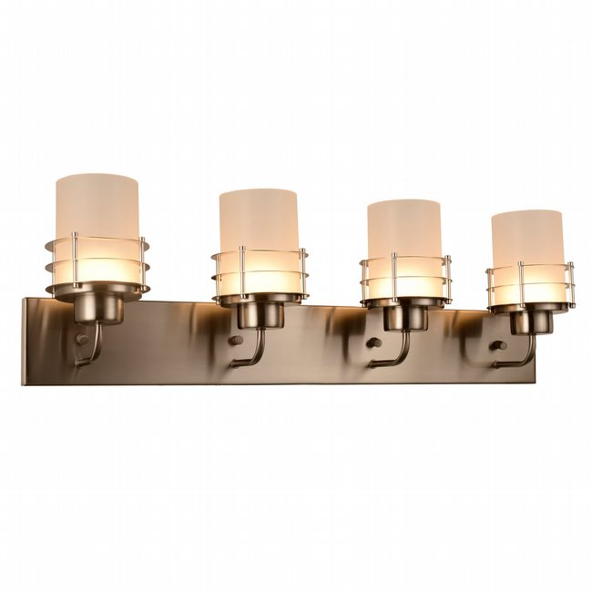 w23457mn30 Potomac 4 Light Matte Nickel Finish LED Wall Sconce