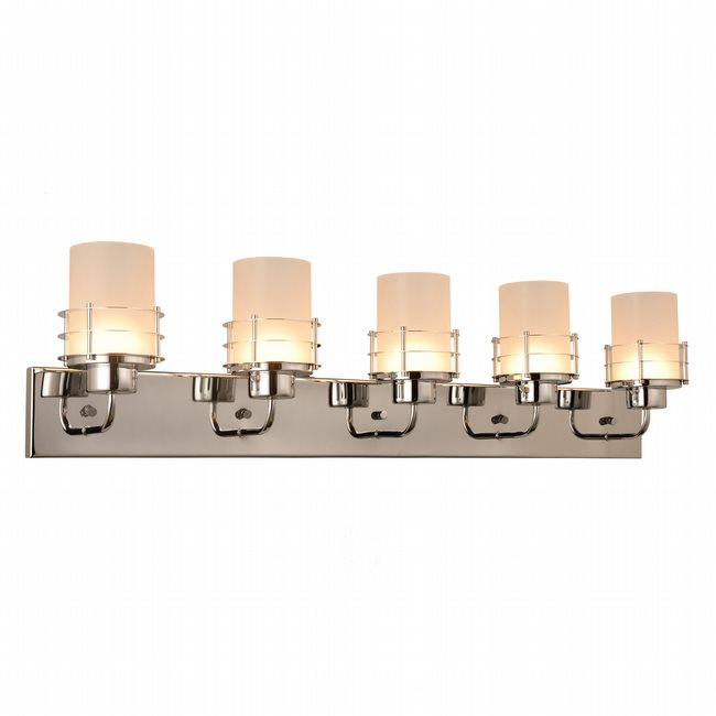 w23458c38 Potomac 5 Light Chrome Finish LED Wall Sconce - Discontinued