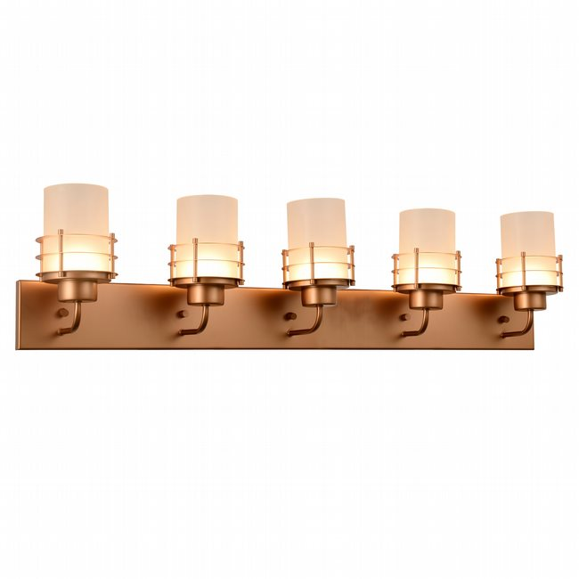w23458mg38 Potomac 5 Light Matte Gold Finish LED Wall Sconce - Discontinued