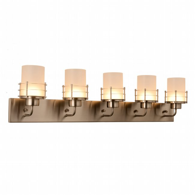 w23458mn38 Potomac 5 Light Matte Nickel Finish LED Wall Sconce