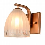 w23459mg5 Blossom 1 Light Matte Gold Finish G9 Wall Sconce