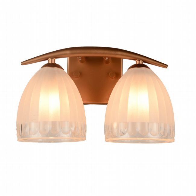w23460mg11 Blossom 2 Light Matte Gold Finish G9 Wall Sconce