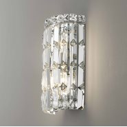 W23510C6 Cascade 2 light Chrome Finish with Clear Crystal Wall Sconce