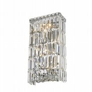 Cascade Collection 4 Light Chrome Finish with Clear Crystal Wall Sconce