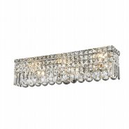 Cascade 6 Light Chrome Finish and Clear Crystal Vanity Light