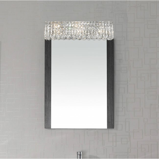W23531C24 Cascade 6 Light Chrome Finish and Clear Crystal Vanity Light