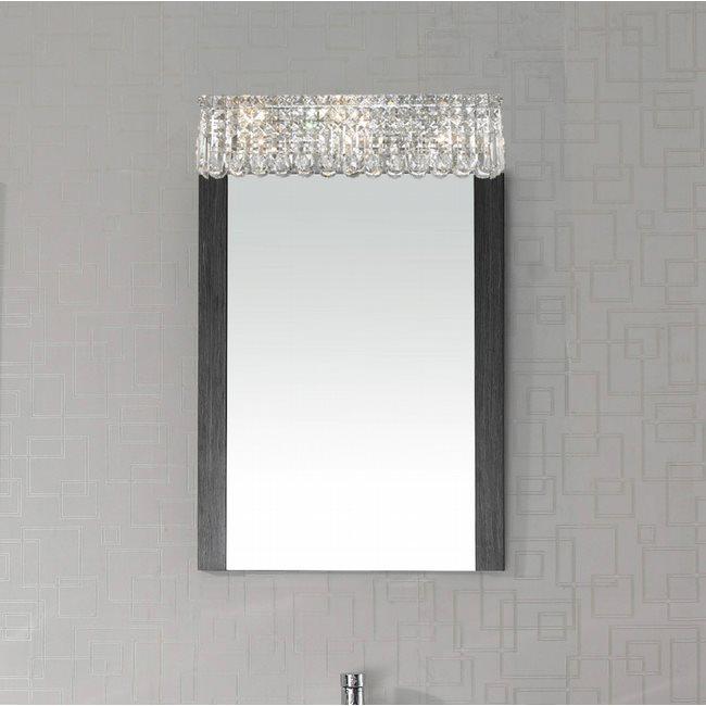 W23531C24 Cascade 6 Light Chrome Finish and Clear Crystal Vanity Light