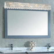 W23533C48 Cascade 10 Light Chrome Finish and Clear Crystal Vanity Light