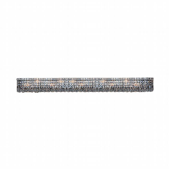 W23534C60 Cascade 12 Light Chrome Finish and Clear Crystal Vanity Light