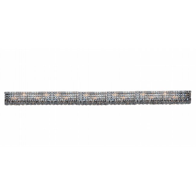 W23535C86 Cascade 18 Light Chrome Finish and Clear Crystal Vanity Light - Discontinued