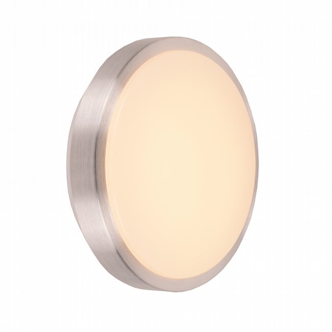 W23560BN10 Aperture Brushed Nickel Opal (Acrylic) Wall Sconce/Ceiling Light, LEDx12W, 3500K