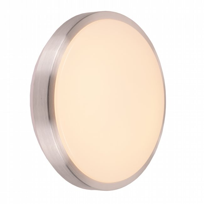 W23561BN13 Aperture Brushed Nickel Opal (Acrylic) Wall Sconce/Ceiling Light, LEDx18W, 3500K