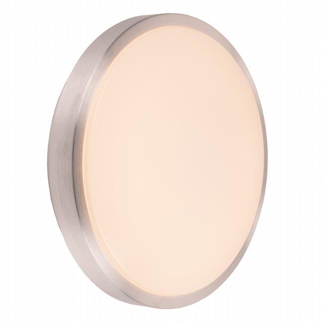 W23562BN16 Aperture Brushed Nickel Opal (Acrylic) Wall Sconce/Ceiling Light, LEDx24W, 3500K