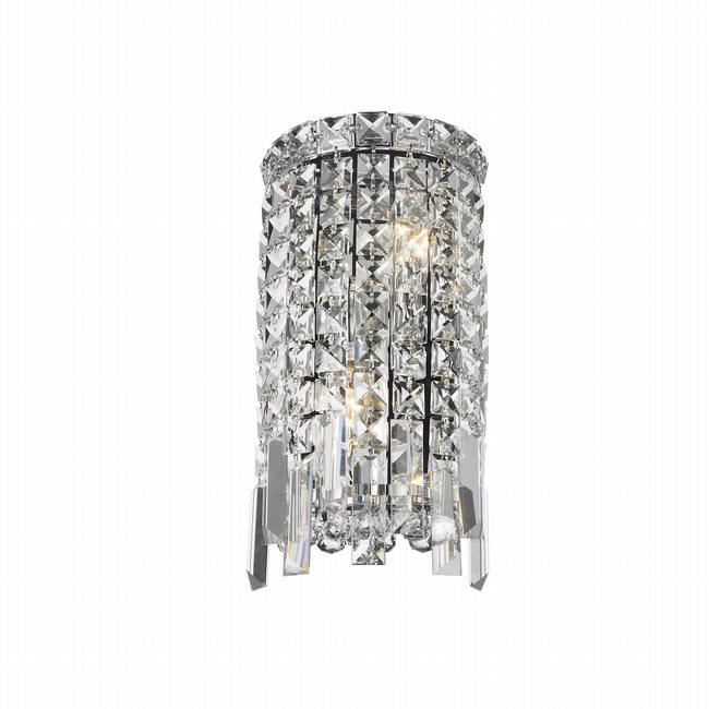W23610c6 Cascade 2 Light Chrome Finish Crystal Wall Sconce Light