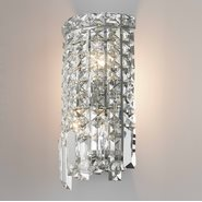 Cascade 2 Light Chrome Finish Crystal Wall Sconce Light