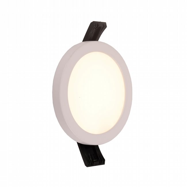 W23660MW4 Kyoto Matte White Opal (Acrylic) Wall Sconce/Ceiling Light, LEDx6W, D4H0.5, 3500K, ADA - Discontinued