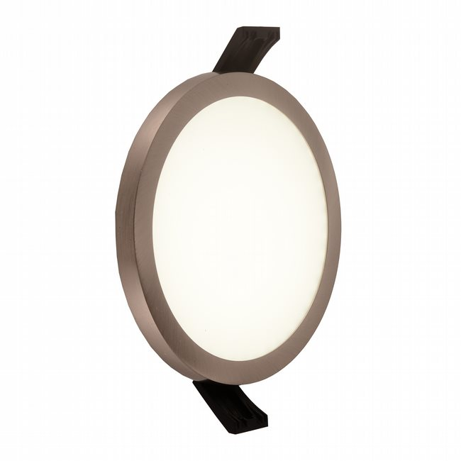 W23661BN5 Kyoto Brushed Nickel Opal (Acrylic) Wall Sconce/Ceiling Light, LEDx9W, D5H0.5, 3500K, ADA - Discontinued