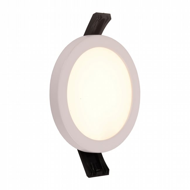 W23661MW5 Kyoto Matte White Opal (Acrylic) Wall Sconce/Ceiling Light, LEDx9W, D5H0.5, 3500K, ADA - Discontinued