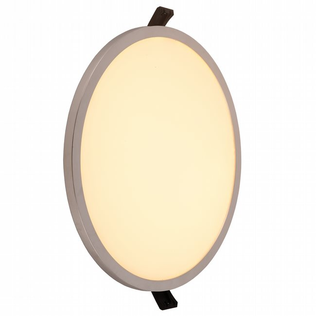 W23664C9 Kyoto Chrome Opal (Acrylic) Wall Sconce/Ceiling Light, LEDx24W, D9H0.5, 3500K, ADA - Discontinued