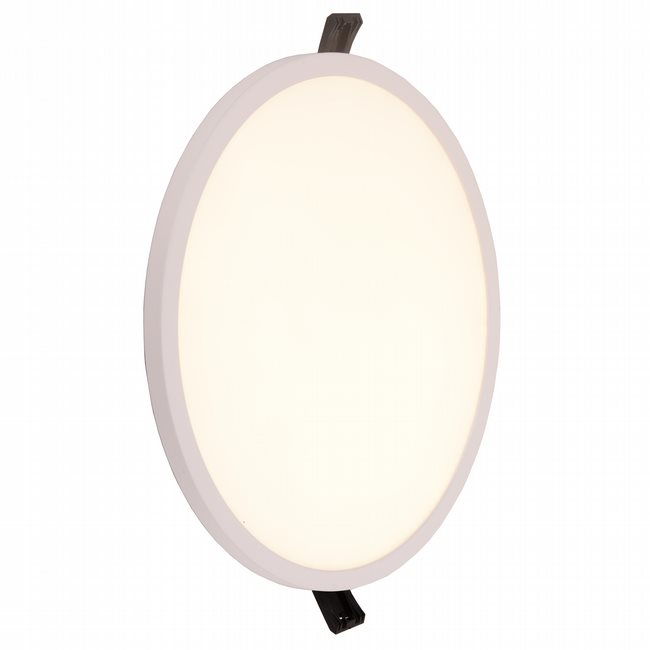 W23664MW9 Kyoto Matte White Opal (Acrylic) Wall Sconce/Ceiling Light, LEDx24W, D9H0.5, 3500K, ADA - Discontinued