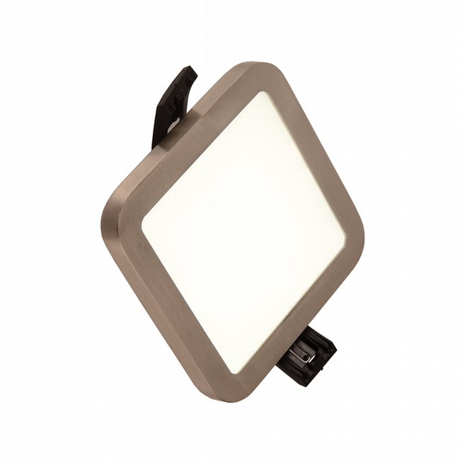 W23665BN4 Kyoto Brushed Nickel Opal (Acrylic) Wall Sconce/Ceiling Light, LEDx6W, W4x4H0.5, 3500K, ADA - Discontinued