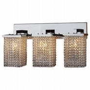 W23767C25 Prism 3 Light Chrome Finish and Clear Crystal Wall Sconce Light