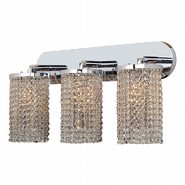 Prism Collection 3 Light Chrome Finish and Clear Crystal Wall Sconce Light Swing Arm