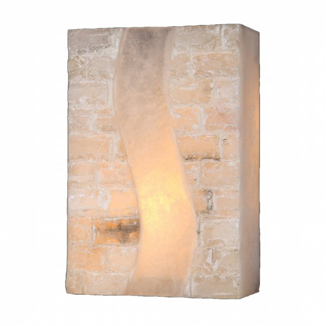 W23801F8 Pompeii 1 Light Flemish Brass Finish Natural Quartz Wall Sconce - Discontinued