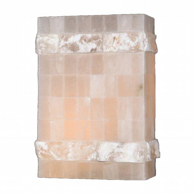 W23802F8 Pompeii 1 light Flemish Brass Finish Natural Quartz Wall Sconce - Discontinued