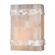 W23802F8 Pompeii 1 light Flemish Brass Finish Natural Quartz Wall Sconce