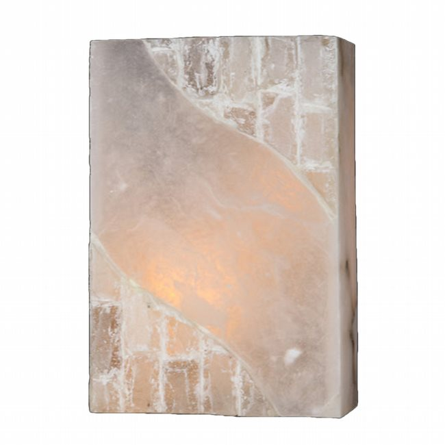 W23803F8 Pompeii 1 Light Flemish Brass Finish Natural Quartz Wall Sconce - Discontinued