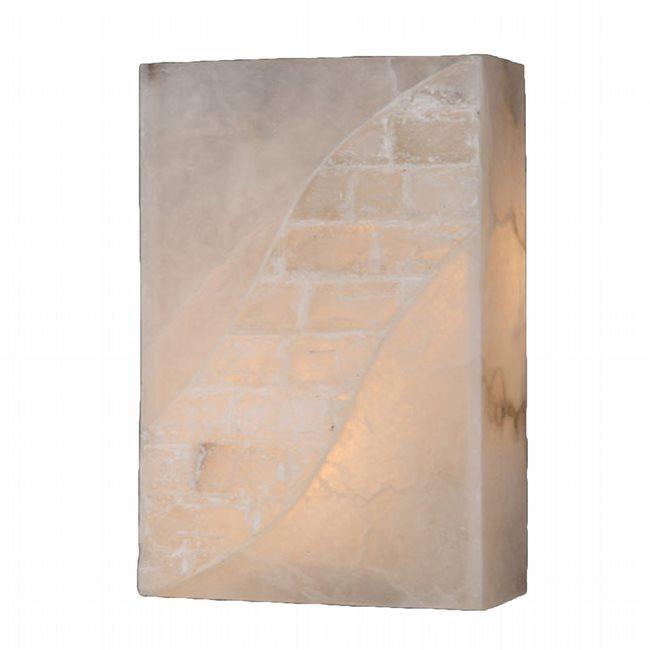 W23804F8 Pompeii 1 light Flemish Brass Finish Natural Quartz Wall Sconce