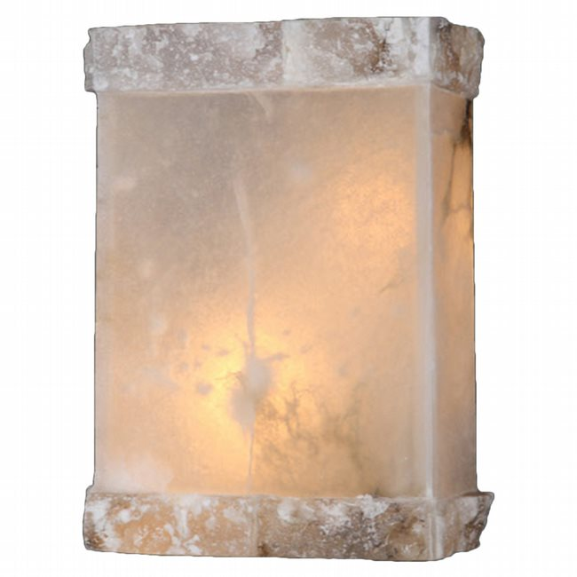 W23805F8 Pompeii 1 light Flemish Brass Finish Natural Quartz Wall Sconce