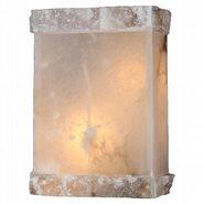 W23805F8 Pompeii 1 light Flemish Brass Finish Natural Quartz Wall Sconce