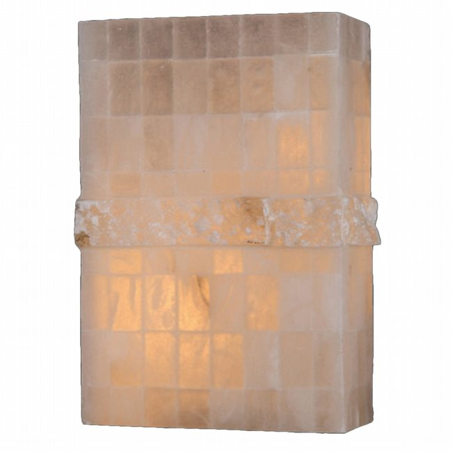 W23807F8 Pompeii 1 light Flemish Brass Finish Natural Quartz Wall Sconce - Discontinued